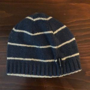 abercrombie kids blue and white hat